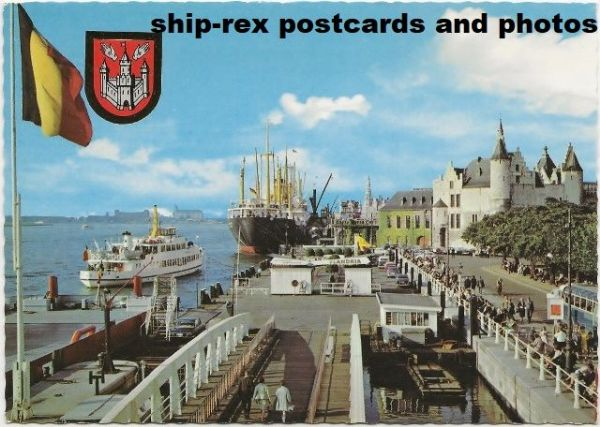 Antwerp (Belgium) port, postcard (b)